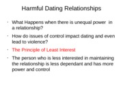 Chapter 8 -Harmful Dating Relationships
