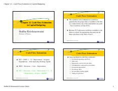 6-Chapter 12 - Cashflow Estimation in Capital Budgeting-2