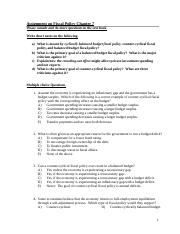 Student Copy Practice Questions on Fiscal Policy.doc