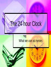 3.The 24 hour Clock