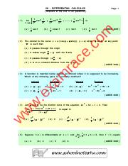 Mathematics-Differential-MCQ