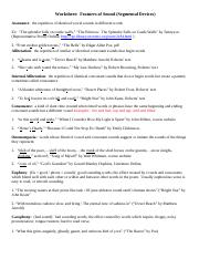 Worksheet on Sound answers