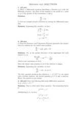 Midterm Test Solution(1)