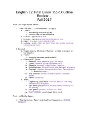 English 12 Final Exam Topic Outline Review â????.docx