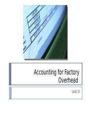 Unit 3 Accounting for Overhead.pptx