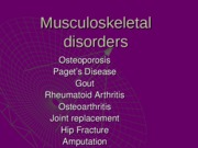 musculoskeletal Fall 2011