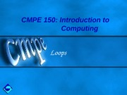 CMPE150-Ch3-Loops