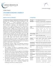 Case study of Crossboundary Energy Financing