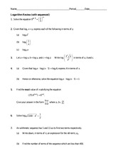 IB Math Year 1 Log and Sequences Review
