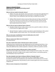 Marriage and Family Final Exam Study Guide.docx