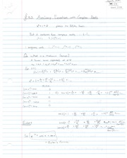 Notes on Auxiliary Equations with Complex Roots