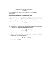 Statistical Mechanics and RationingClass Notes week 4
