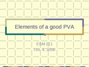Elememts of a good PVA 2006