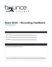 Team-Brief-Recording-Feedback-Fillable-Template