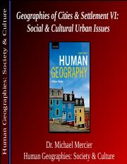 geography 1ha3 Cultural geography can aid in understanding various conditions related to an area's people, while economic geography aids in understanding the types of economic activities and jobs available in an area.