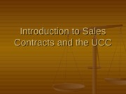 Chapter 20 - Intro to Sales & UCC