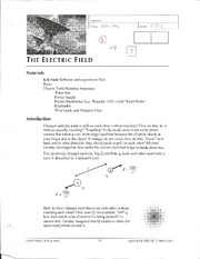 Electric Fields Lab 2 Physics 152L