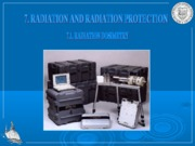 Chapter 7. Radiation and Radiation Protection