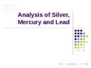 Lab 05 (-) - Analysis of Silver, Mercury and Lead (STUDENT)