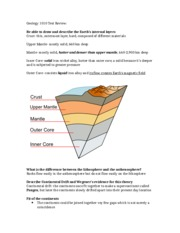 Geology 1010 Test Review
