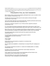 PHILOSOPHY  PHIL 201 TEST ANSWERS (1)