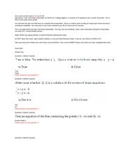 MATH 110 : beginning & intermediate algebra - American Public