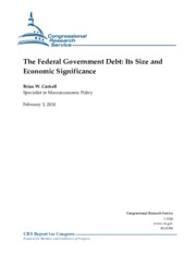 The Federal Government Debt- Its Size and Economic Significance  _CRS