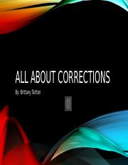 all about corrections