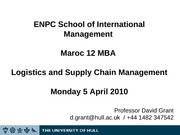 ENPC MBA Lecture Slides 2010 Day 1