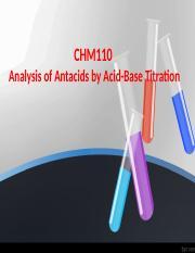 Analysis of Antacids By Acid Base Titration.pptx