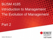 2. Evolution of management part 2