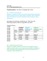 Sec. 1.3 Notes - Analysis of Quantitative Data, Part 2