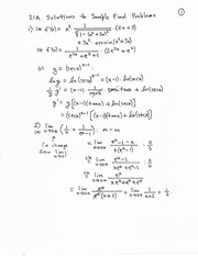 21A Sample Final Solutions