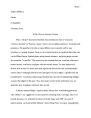 Evaluation Essay 2