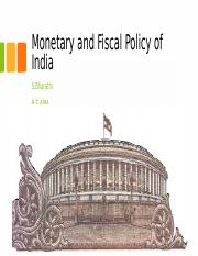 Monetary and Fiscal Policy of India.pptx