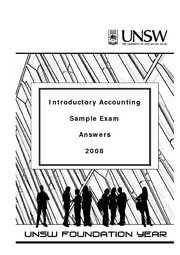 07 Accounting 2008 Sample Exam Answers