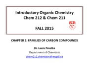 CHAPTER 2- FAMILIES OF CARBON COMPOUNDS