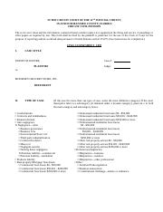 Civil Cover Sheet Form