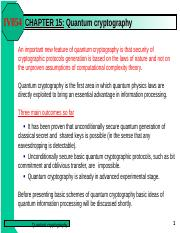 CHAPTER 15 - Quantum cryptography.ppt