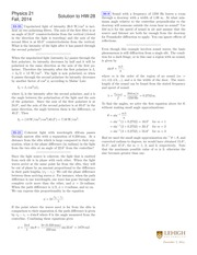 PHYSICS 21 Fall 2014 Homework 28 Solutions