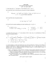 Midterm Exam 2 Solution Spring 2003 on Ordinary Differential Equations