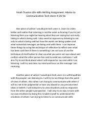 Writing Assignment Advice to Communication Tech Users .docx