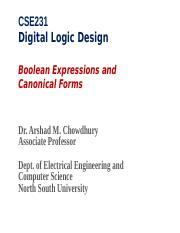 CSE231-class4-Boolean_Expressions