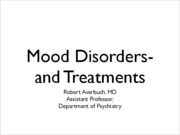 Introduction to Mood Disorders