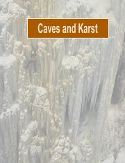 GEOL122 Karst and CAVES