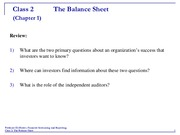 Accounting 2 Balance Sheet