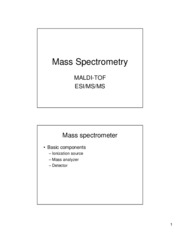 Lecture 3 Mass spectrometry BW