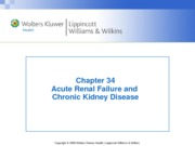 Chapter 34 Acute Renal Failure and Chronic Kidney Disease