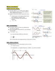 Notes - Waves and Oscillation