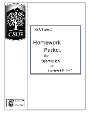 Section 1 Summary Homework Packet